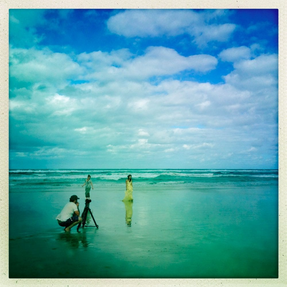 Filming On Fraser Island Beach