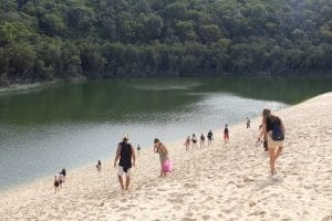 fraser island snorkelling at lake wabby